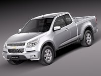 chevrolet colorado 2012 pickup 3d 3ds