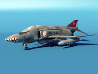 3d f4-2 phantom turkish aircraft model