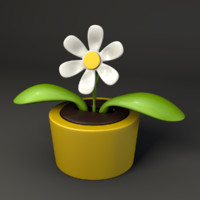 3d plastic flower toy