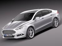 mondeo 2013 sedan 3d model