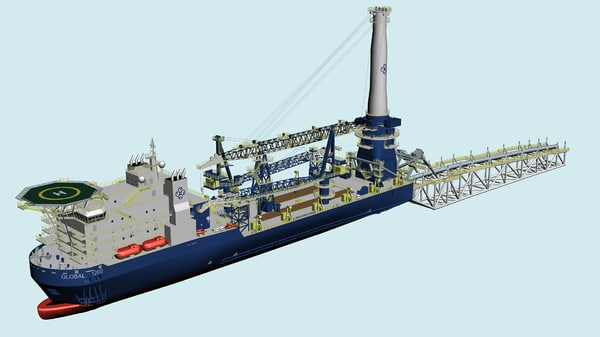 global 1200 crane ship 3d model - Global 1200 Crane Ship... by blushoes