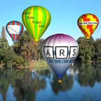 3d model hot air balloons