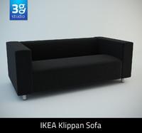 klippan two-seat sofa seat 3d max