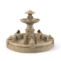 outdoor fountain 3d model