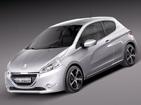 peugeot 208 2013 hatchback 3ds