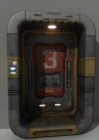 sci-fi door 3d x