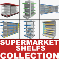 Supermarket Shelfs Collection 2