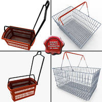 3ds max supermarket shopping baskets