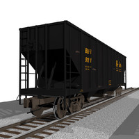 Train Car: Coal Hopper: C4D Format