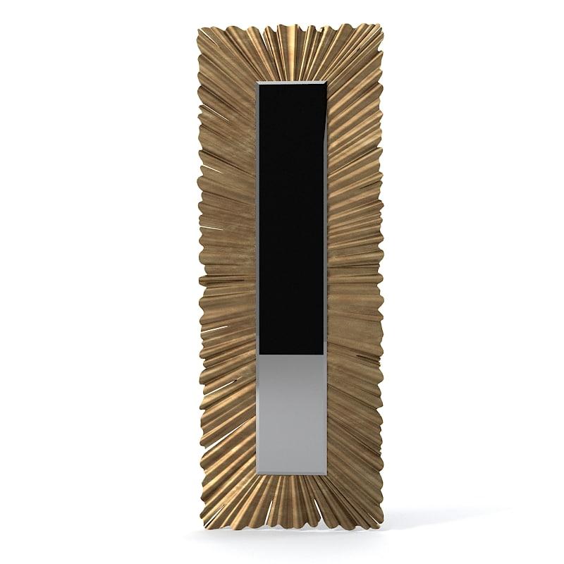 christopher guy  Long Ruffle 50-2836 Tall Wall Mirror  designer elegant floor modern contemporary art0001.jpg