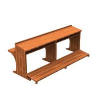 church bench obj