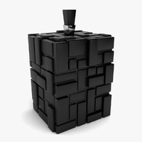 decorative square vase 3d max