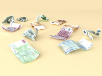 Crumpled Euro money
