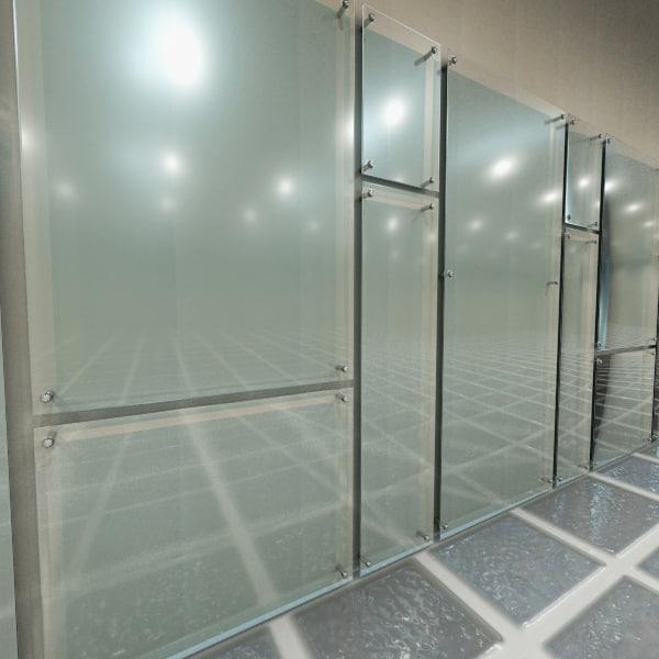 Glass Wall Panel 3d Model