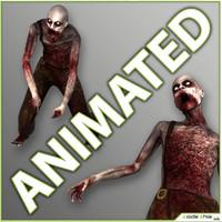 3d realtime zombie model