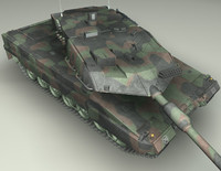battle tank leopard2a6 3d max