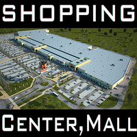 Retail Store Mall M1 Full Textured Scene Render Ready