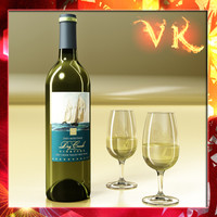 White Wine Bottle and Cup