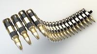 3d ammo belt model