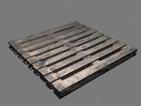 3ds max wooden crate pallet