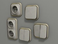 wall plug light switch 3d model