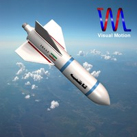 iranian bomb missile sagheb 3d model