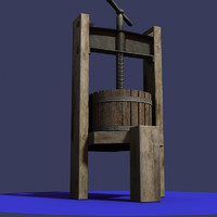 3ds max antique wine press