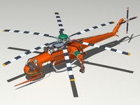 Erickson S-64 helicopter.