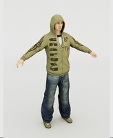 rap rapper 3d model