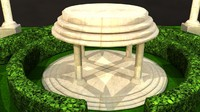 3ds max temple garden