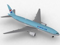 3d b 777-200 korean air model