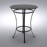 Restoration Hardware - Carmel Bar Table Painted Metal