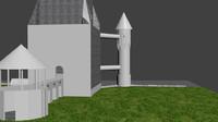 castle 3d blend