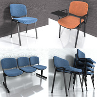 3d visitor chair model