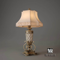 fine art lamps table 3d model