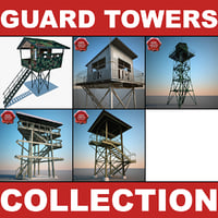 3d guard towers v2 model