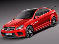 Mercedes-Benz C63 AMG Black 2013
