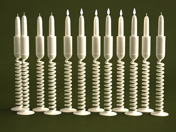 3d candle holder model - NORDST NUMI CANDLE HOLDER 2012... by VISuAL3DFX