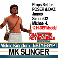 Props Set Poser Daz for Ancient Egypt MK Slinger