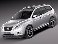 3d model nissan pathfinder 2013 suv
