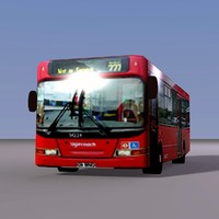 3d model single london red bus