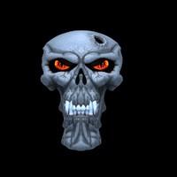 skull 3d ma