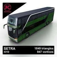 3d setra 431d bus model