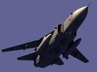 3d sukhoi su-24 bomber airplane