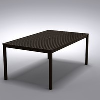 restoration hardware - dining table 3d model