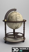 antique world globe 3d max