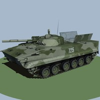 light tank bmp3 3d model