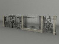 3ds max fence gates