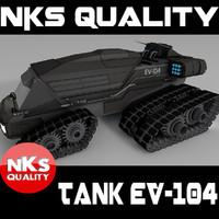 3ds max futuristic tank rocket ev-104