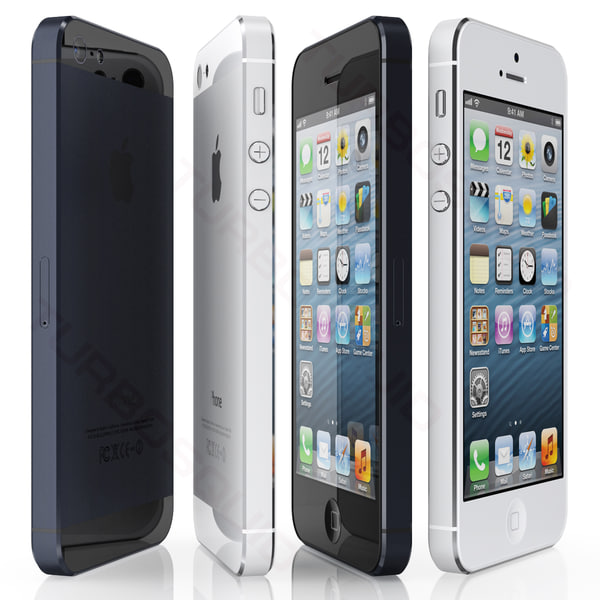 copy iphone 5 3d model - iPhone 5... by iljujjkin